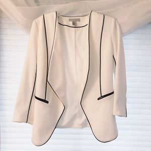 H&M Structured Black and White Blazer